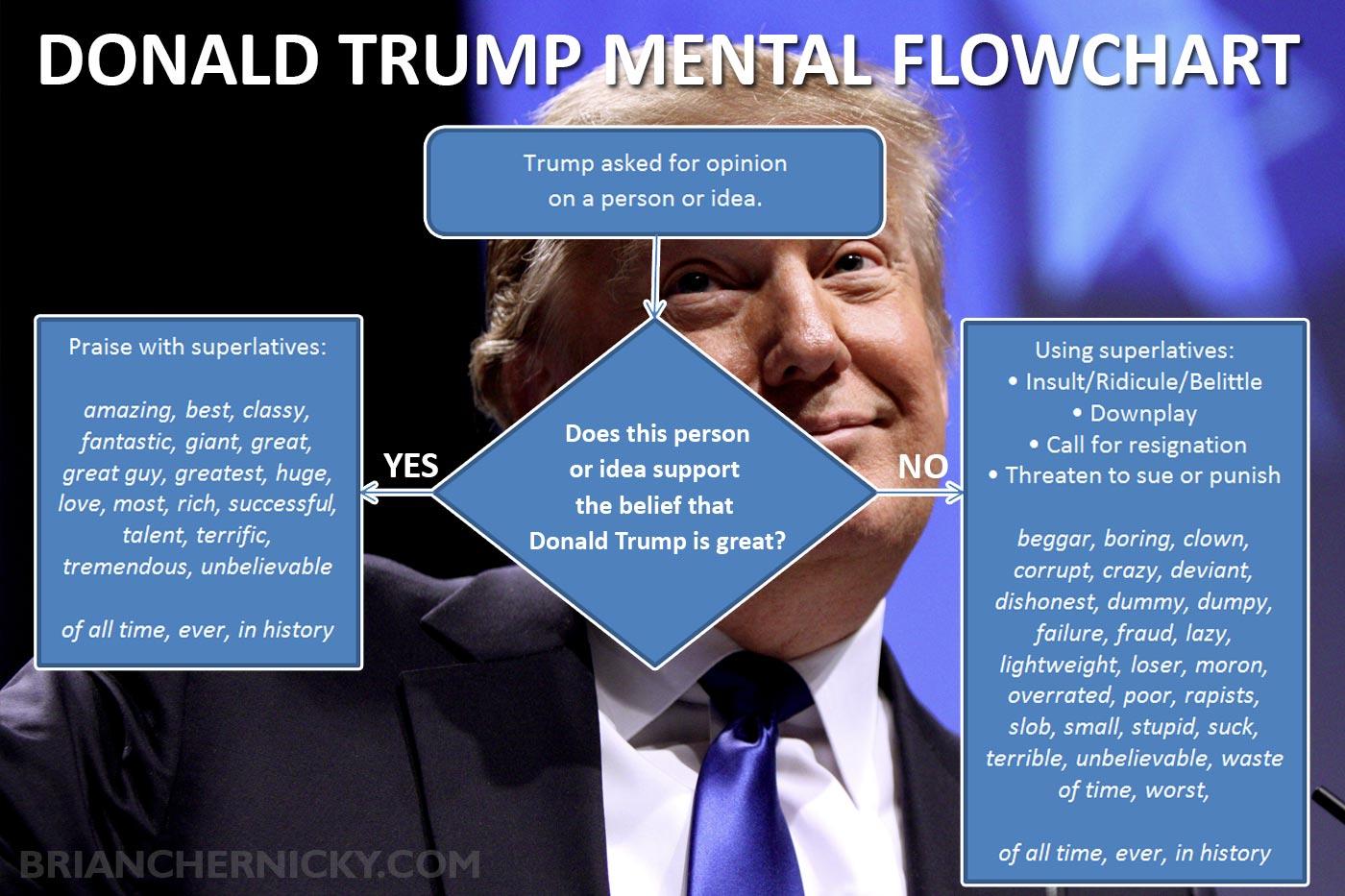 Donald Trump's Mental Flowchart